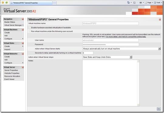 Configure Virtual Machine