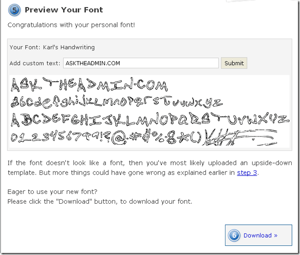 handwriting4 thumb Have you ever wanted to create your own font from your handwriting?
