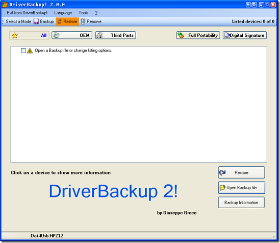image thumb13 Backup your drivers with DriverBackup 2. (Windows)
