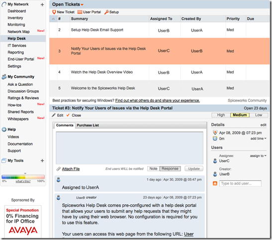 SpiceWorks 4.0 Beta – now available. | Ask The Admin