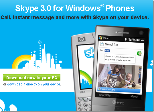image3 Skype for Windows Mobile pulled but we still have the link! Updated with cab file!