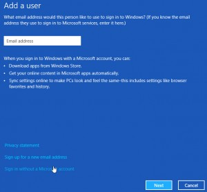 1 Add a user 300x278 How To Rename Microsoft Account Usernames And User Folders In Windows 8