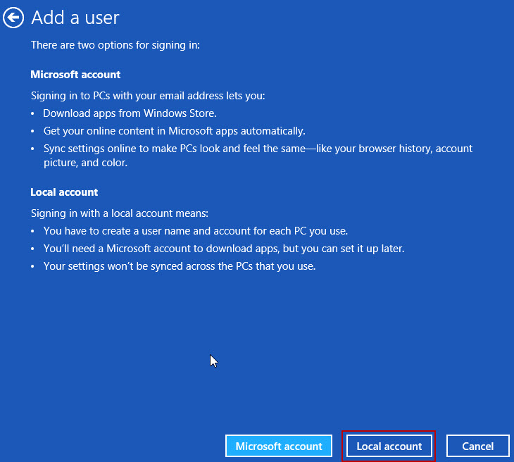 2 Add local user How To Rename Microsoft Account Usernames And User Folders In Windows 8