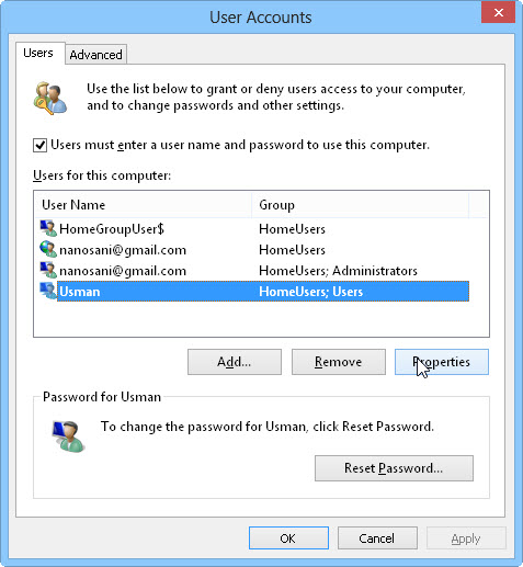 3 User accounts How To Rename Microsoft Account Usernames And User Folders In Windows 8