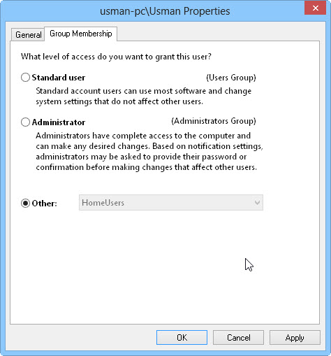 4 Group membership How To Rename Microsoft Account Usernames And User Folders In Windows 8