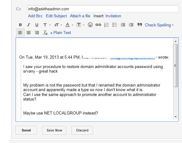 GmailReply Gmail Fu: Cut down on the clutter in your Gmail replies.