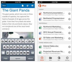 IOSOffice 300x259 Free Microsoft Office 365 for the iPhone for those of us with subscriptions...